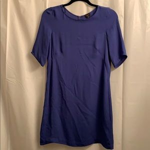 Royal Blue Babaton Silk T-shirt dress